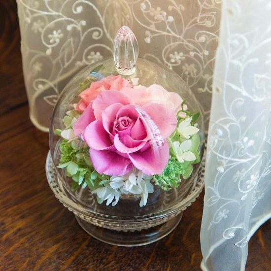 ガラスドーム ピンク 母の日※ギフトタイプ2