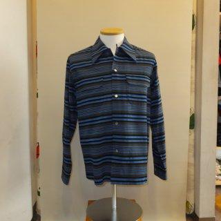 Vintage Style Box Shirt L/S Blue