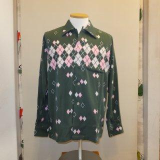 Green Argyle Shirts L/S