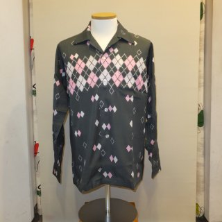 Grey Argyle Shirts L/S