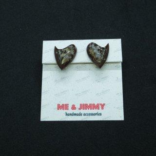 Vintage Style Heart Boomerang Earring