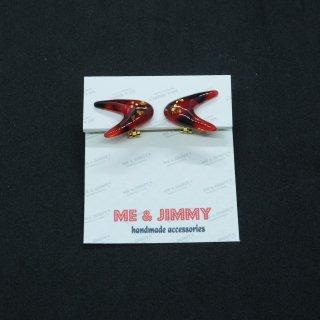 Marble Boomerang Earring