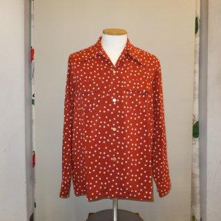 Polka Dot Vintage Style Box Shirt L/S