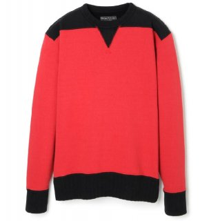 DOUBLE V TWO TONE SWEATSHIRT RED