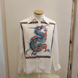 Vintage Style 50'S Dragon panel Box Shirt L/S