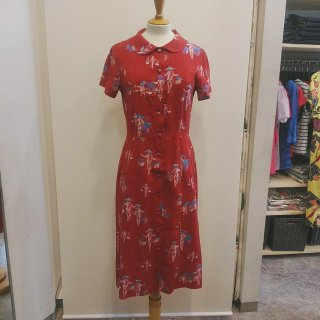 1950'S Vintage Style Rayon Silk One Peace
