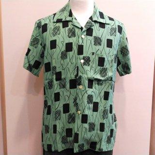 Vintage Style 50'S Box Shirt S/S