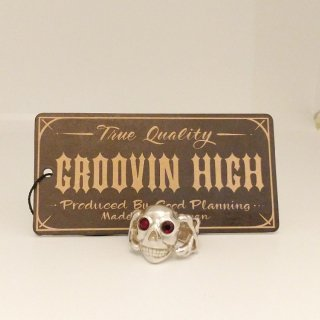 Vintage Skull 30's 40's Style Ring Silver