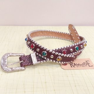 Mallory Belt Deadstock Brown/Silver Lace