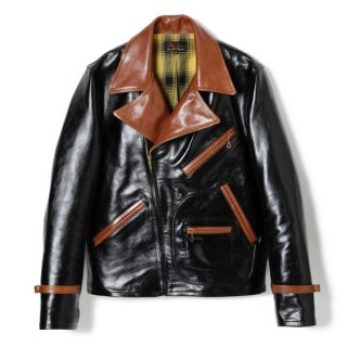 <img class='new_mark_img1' src='https://img.shop-pro.jp/img/new/icons20.gif' style='border:none;display:inline;margin:0px;padding:0px;width:auto;' />Bond Leather Sport Jacket Black/Brown