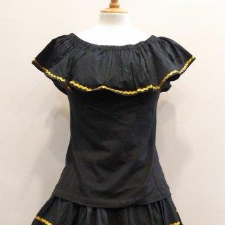 Black Gypsy Carmen Ruffle
