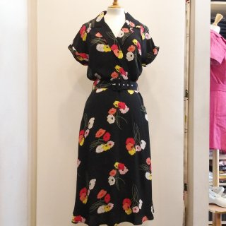 40s Gracie Wrap Dress