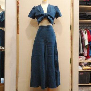 Vintage 1940s Bolero Pants Linen