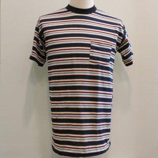 Pocket T-shirt Blue Stripes