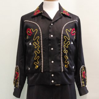 Horseshoe Western Style Satin Jacket