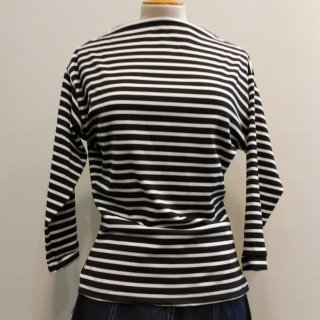 Black Stripe Boatneck