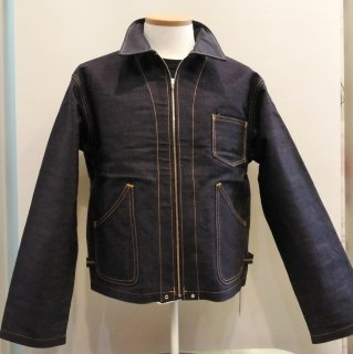 1940s Style Denim Work Jacket