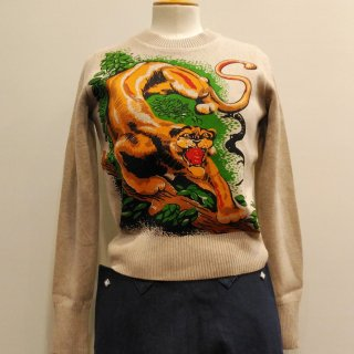 Vintage Lady's Cotton Knit Cougar (2colors)