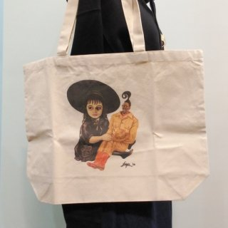 Play with us Halloween Tote Bag Art by Naoya