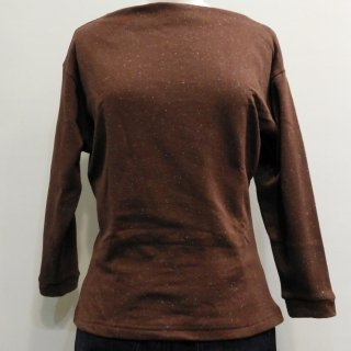 Brown Boatneck Top
