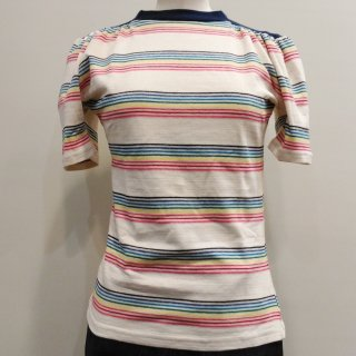 Stripe 1940s Saddle Top