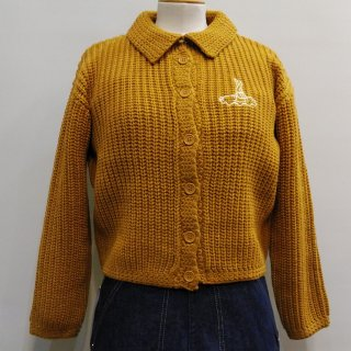 1950s Style Mischief Knit Sweater / Bronze, Kelly Green