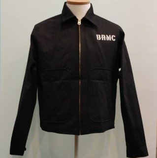 Vintage Wild One Style Cotton Black Jacket B.R.M.C 【B.R.M.C】