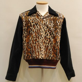 1940s Leopard Corduroy Pullover