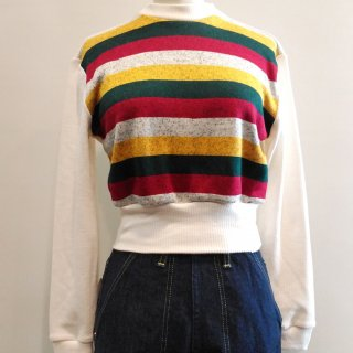 <img class='new_mark_img1' src='https://img.shop-pro.jp/img/new/icons6.gif' style='border:none;display:inline;margin:0px;padding:0px;width:auto;' />Green Stripe Sweater