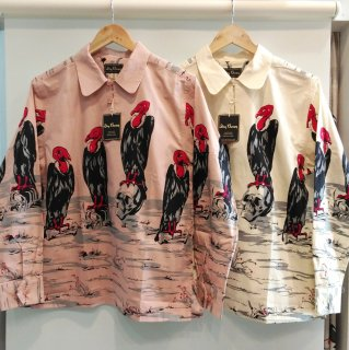 "Pull-over Shirt ""CONDOR"" (Pink/Cream)"