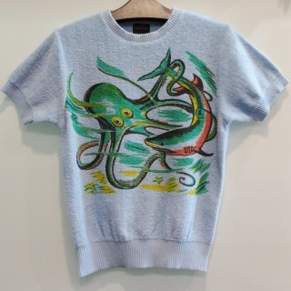 "<img class='new_mark_img1' src='https://img.shop-pro.jp/img/new/icons6.gif' style='border:none;display:inline;margin:0px;padding:0px;width:auto;' />Vintage 1950's Style Summer Knit ""OCTOPUS"""