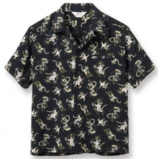 "<img class='new_mark_img1' src='https://img.shop-pro.jp/img/new/icons6.gif' style='border:none;display:inline;margin:0px;padding:0px;width:auto;' />HIGH DENSITY RAYON OPEN SHIRT ""FANCY CATS"" S/S"