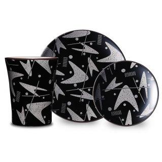 """Boomerang"" Cup & Plate 3-Piece Set"