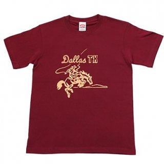 """DALLAS TX"" Print T-Shirt Wine/Natural"