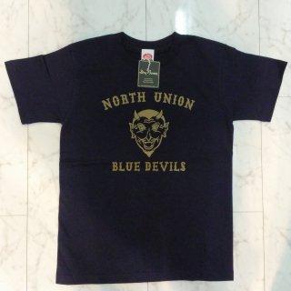 """NORTH UNION"" Print T-Shirt Navy/White"