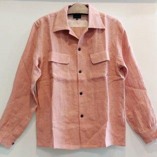 1950's Vintage Style Linen Box Shirt L/S