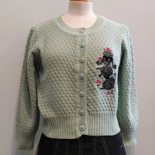 Poodle with Roses Cardigan