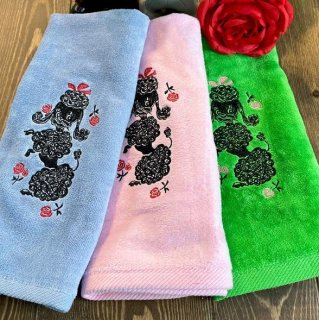 Poodle with Roses Towel 3color