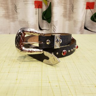 <img class='new_mark_img1' src='https://img.shop-pro.jp/img/new/icons6.gif' style='border:none;display:inline;margin:0px;padding:0px;width:auto;' />Studded & Jeweled Western Belt 【D】 (25mm幅)