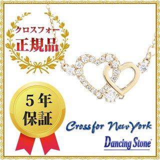ダンシングストーン ネックレス クロスフォーニューヨーク ダンシング クロスフォー ペンダント ハート ゴールド NYP-598Y