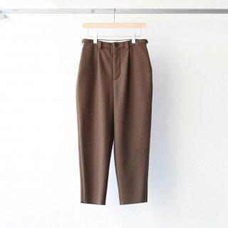 foof - super 100's 2 tuck pants (brown)