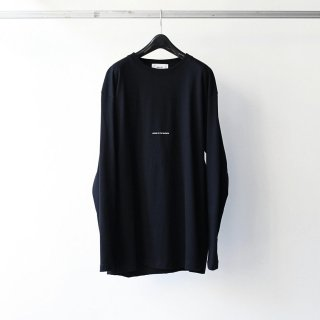 <img class='new_mark_img1' src='https://img.shop-pro.jp/img/new/icons54.gif' style='border:none;display:inline;margin:0px;padding:0px;width:auto;' />BREATHE. (ever so soft) - INSTRUCTION LS TEE 'LISTEN TO THE SILENCE' (BLACK)