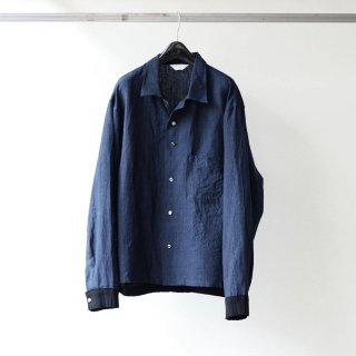 THEE - rib shirts jacket (NAVY GLEN CHECK)