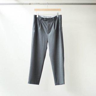 foof - wool one tuck slacks (grey)
