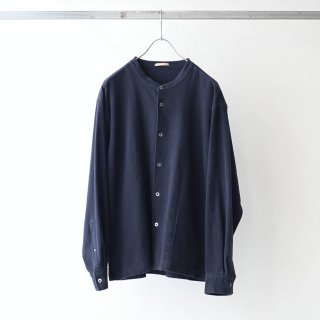 LAMOND - MOLESKIN STRETCH BAND COLLAR JACKET (D.NAVY)