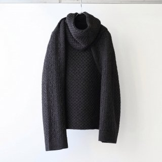 SOUMO - SLEEVE STOLE (CHARCOAL BROWN)