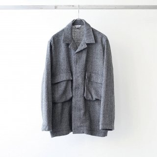 foof - wool herringbone BDU jacket (grey)