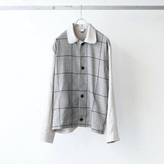foof - tsuki jacket (oatmeal check)