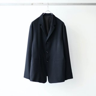 THEE - 3 button box jacket (black)