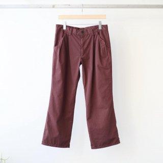 foof - ankle length flare pants (burgundy)